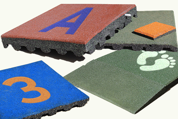 AtmaSafePlay playground tiles colors and designs